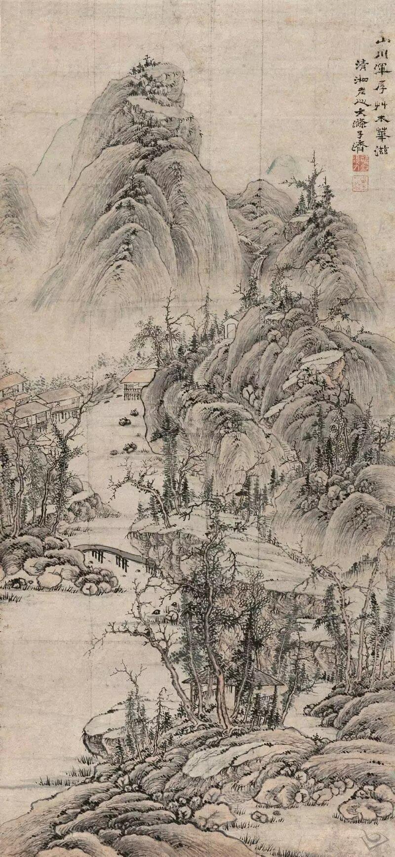 64d4ece  石涛  溪桥野色_proc