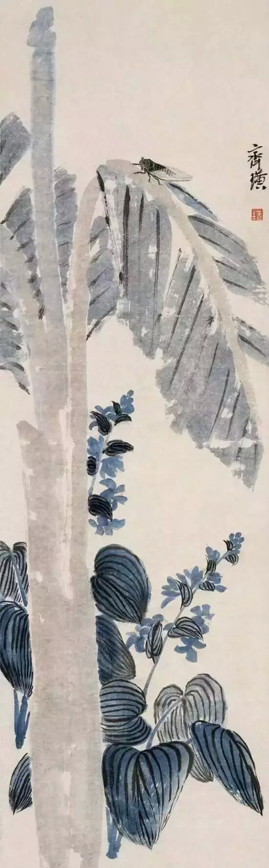 芭蕉鸣蝉图